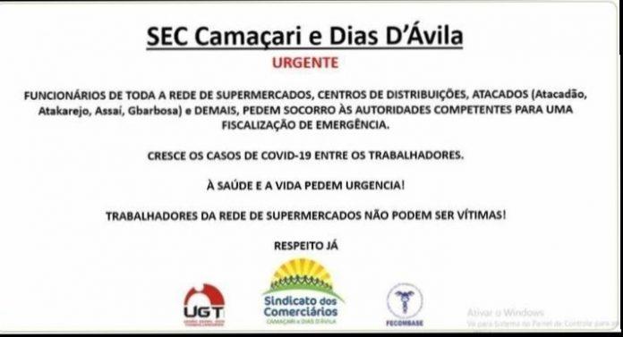 Funcionários de grandes redes de supermercados em Camaçari pedem socorro 1